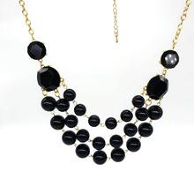饰品定制 欧美大牌时尚短款项链  欧美时尚彩色珠子项链