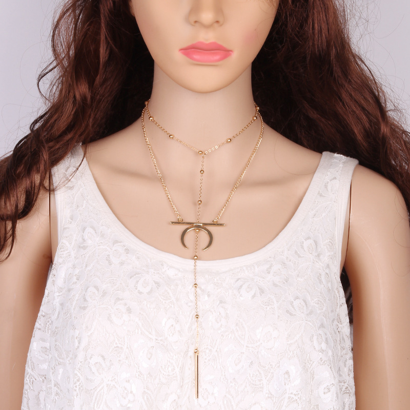 Occident and the United States alloy plating necklace (Gold)NHJQ9269-Gold
