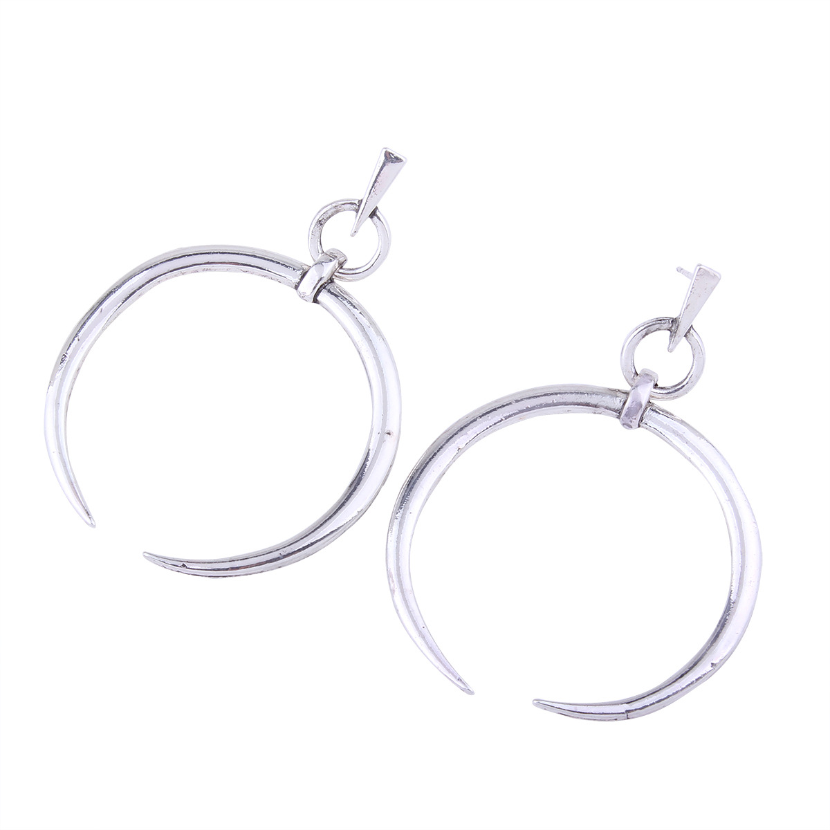 Simple alloy Diamond earring (Ancient silver)NHNMD3821-Ancient silver
