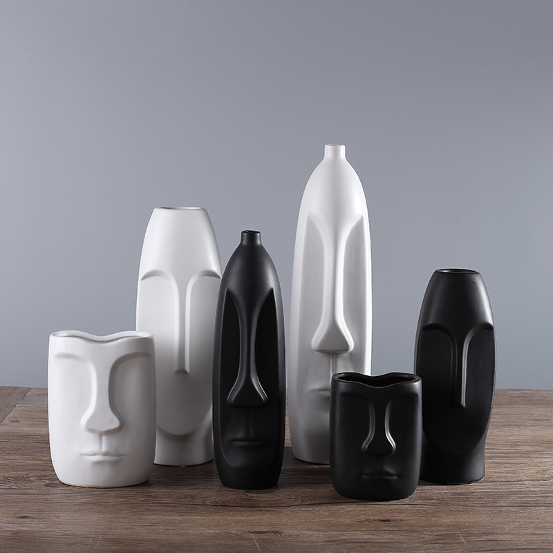 北欧花瓶装饰创意摆件客厅书房玄关家居装饰品陶瓷工艺品摆设批发