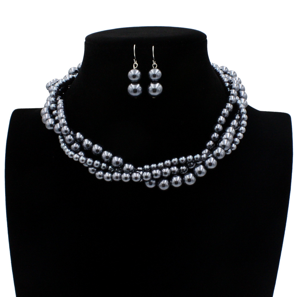 Occident and the United States pearlnecklace (gray)NHCT0092-gray