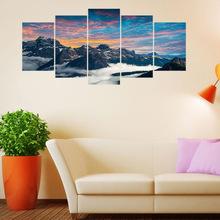 qt008新款組合個性創意墻貼畫 意大利國家公園白云石山脈裝飾墻貼