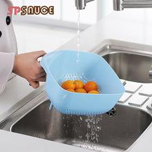 日本SP SAUCE可掛式水槽瀝水籃帶手柄瀝水筐水果盤果盆廚房洗菜籃