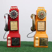 树脂工艺品欧式复古电话机家用存钱罐典董高档创意复古电话机模型