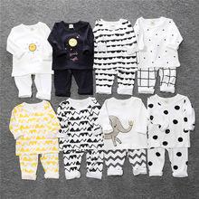 2021秋冬INS兒童睡衣套裝中小童打底內衣內褲寶寶護肚家居服批發