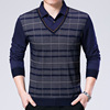 Spring 2017 middle-aged male long sleeved shirt new fashion men's Korean false two cotton casual shirt wholesale