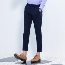 新款男士西裤青年休闲时尚小脚裤弹力九分裤薄款2017夏季修身男裤