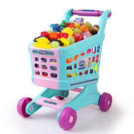 Children's play house shopping cart toy set Touch-sensitive music cut music play house children's toys