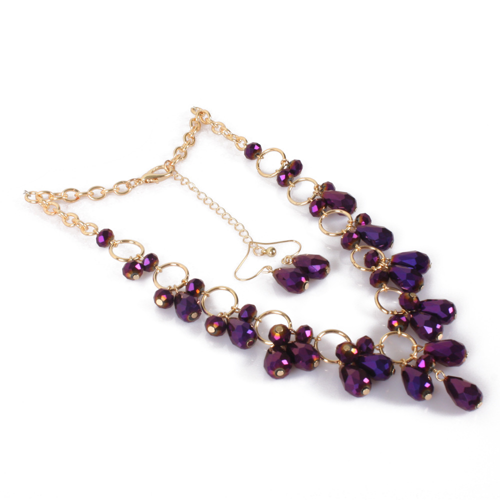 Occident and the United States Glassnecklace (purple)NHCT0104-purple