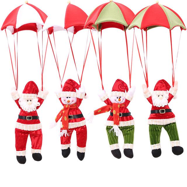 圣诞装饰老人中庭吊饰 圣诞节吊饰 降落伞圣诞老人 圣诞雪人挂件