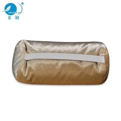 厂家直销白鸭羽绒汽车枕头靠车用圆形靠枕车用护颈枕