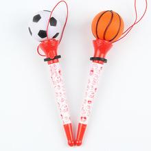 廠家批發定制卡通塑料廣告筆 外貿創意禮品促銷籃球足球跳圓珠筆