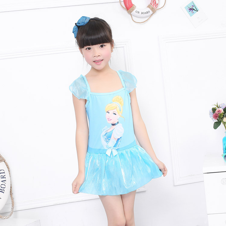 ed10b2a5af3b6 2017 Korean princess skirt piece swimsuit cute little girl in a bathing suit  manufacturers wholesale Children's