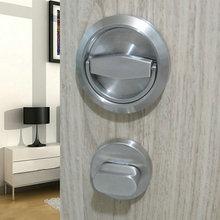 德国鸿瀛304不锈钢隐形门锁 单面暗门锁 背景墙门锁 隐藏式门锁