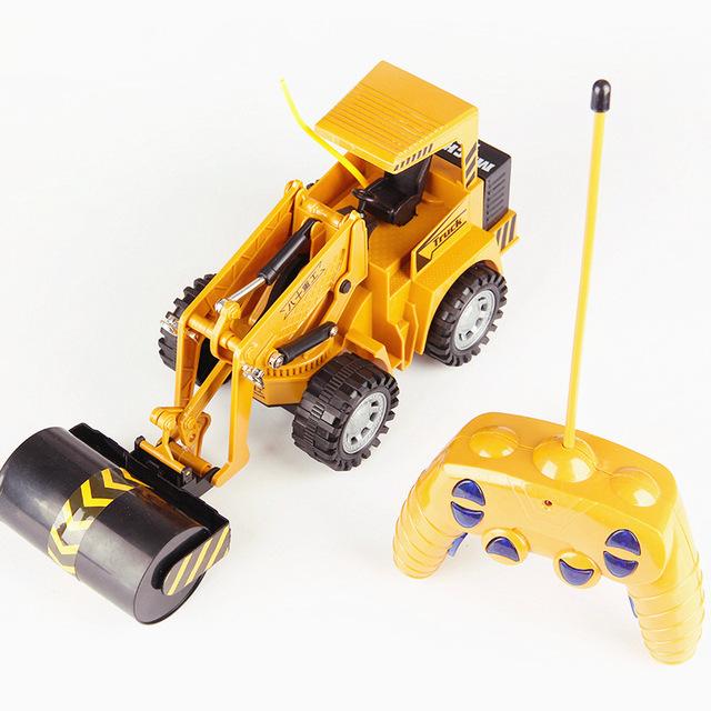 八十重工遥控压路车 仿真城市工程车模型平地机玩具 带充电遥控车