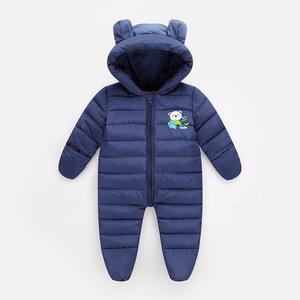 新生儿棉衣新款冬装厚男女婴幼儿爬爬服儿童宝宝羽绒棉服连体哈衣