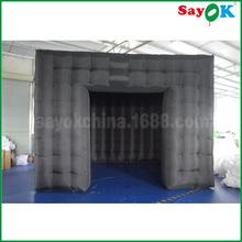 定制全黑立方体充气帐篷 方形移动小房间 户外充气广告展览帐篷