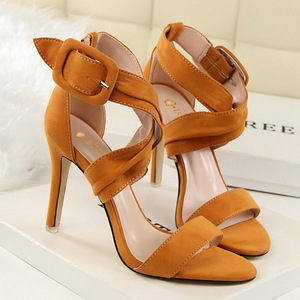 High-heeled Block Sandal