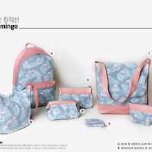 韩国 满印小叶子鸟系列 各种包包 双肩包书包零钱包化妆包合集