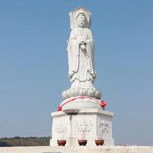 石雕佛像大型仿古观音佛像雕塑汉白玉观音佛像工艺品寺庙人物摆件