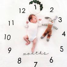 ins婴儿拍照背景布宝宝月份摄影道具毯子新生儿创意影楼摄影毯子