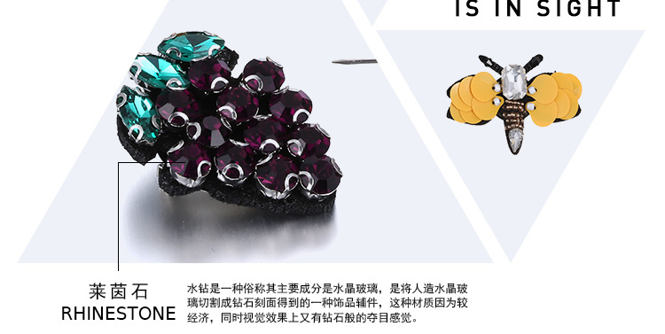 Alloy Fashion Animal brooch  (Color mixing) NHTF0234-Color-mixing