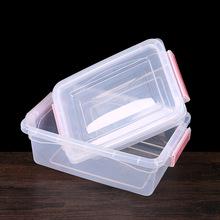 保鲜盒特大号酒店后厨分类储存标示盒冷藏盒可插标签储物盒透明