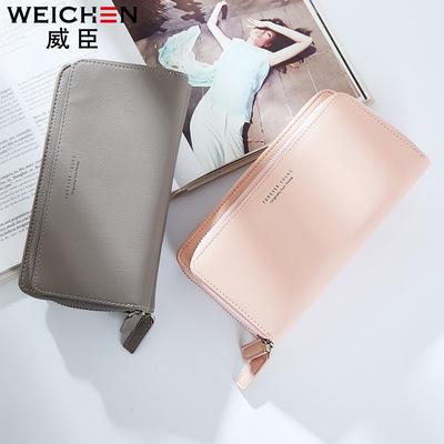 Bán buôn thời trang Hàn Quốc túi xách dây kéo công suất lớn dài ví chuỗi gói điện thoại di động thẻ đa vị trí thay mặt cho một thế hệ