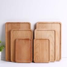 儿童早餐水果盘 无漆环保餐具家用木质果盘 日式 实木面包