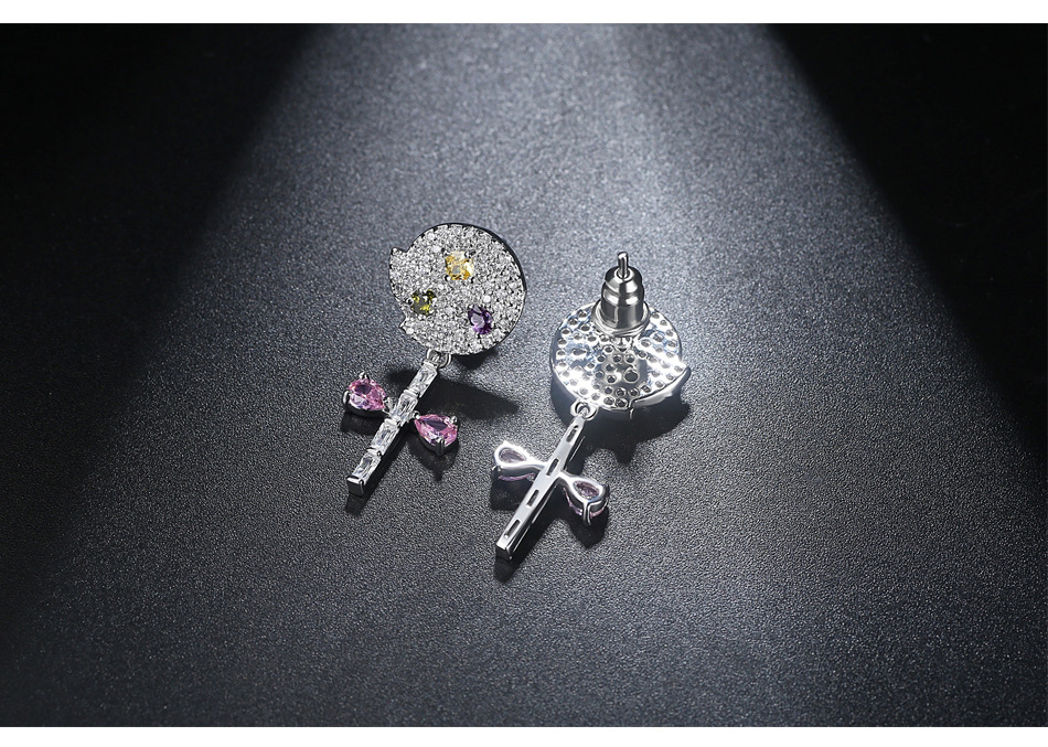 Alloy Fashion Geometric earring  (Platinum-T08B02) NHTM0572-Platinum-T08B02