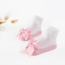 蝴蝶结婴儿袜ins爆款可爱公主女童袜卡特蕾丝袜春秋欧美热批袜子