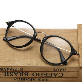New 8807 threaded spectacle frame trendy spectacle frame retro star metal flat lens with myopic mirror