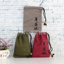 定制中国风绸布束口锦囊袋 束口绸布饰品袋子 加厚佛珠文玩收纳袋