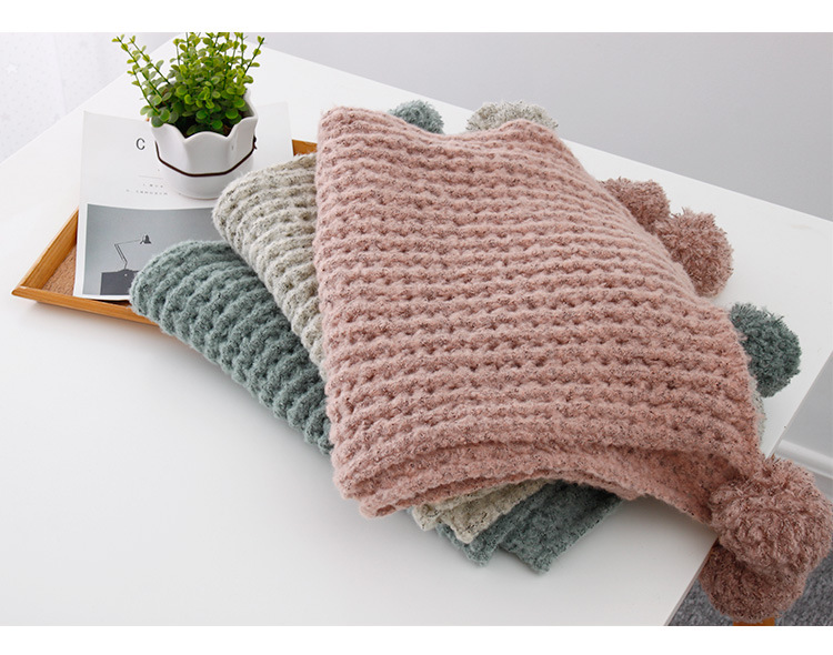 Acrylic artificial woolCashmere scarf (Pink -190X35cm)NHNBS1809-Pink -190X35cm