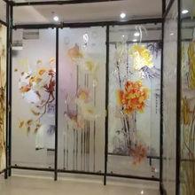2017新款玻璃移门打印机 玻璃印花橱柜门玻璃冰晶画uv平板打印机