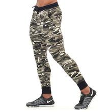肌肉兄弟男士健身运动休闲户外跑步训练弹力小脚迷彩修身长裤
