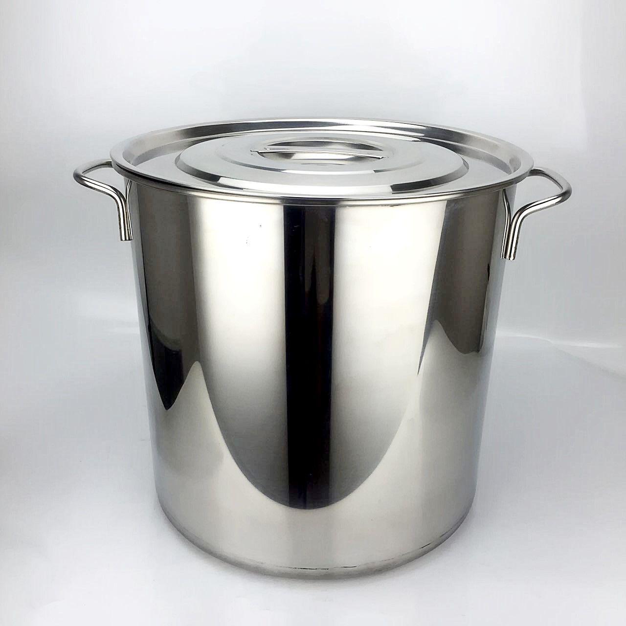 304加高汤桶不锈钢特厚2.5复底汤锅提桶双耳汤桶带磁汤桶矮身汤锅