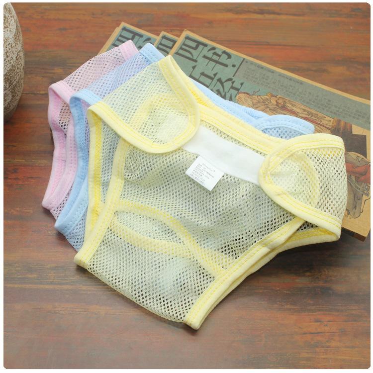 夏季透气网状粘扣尿布裤婴儿网兜尿布裤透布尿裤网眼拉拉裤