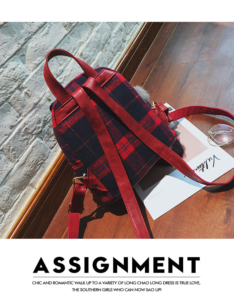 Fashion Other  backpack  (red)  NHPB1676-red