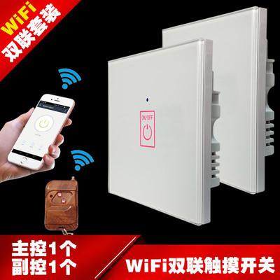 一开智能开关86型玻璃面板遥控开关WIFI双联单控触摸墙壁开关