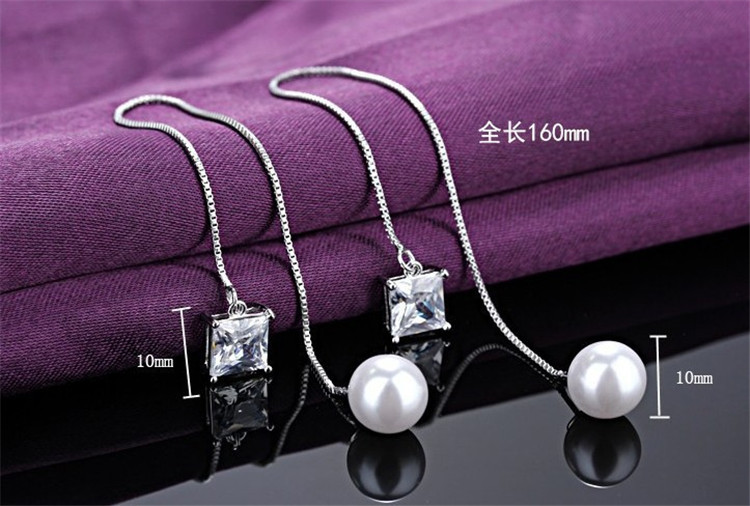 Star with the money crystal plating earring (A pair)NHIM0700-A pair