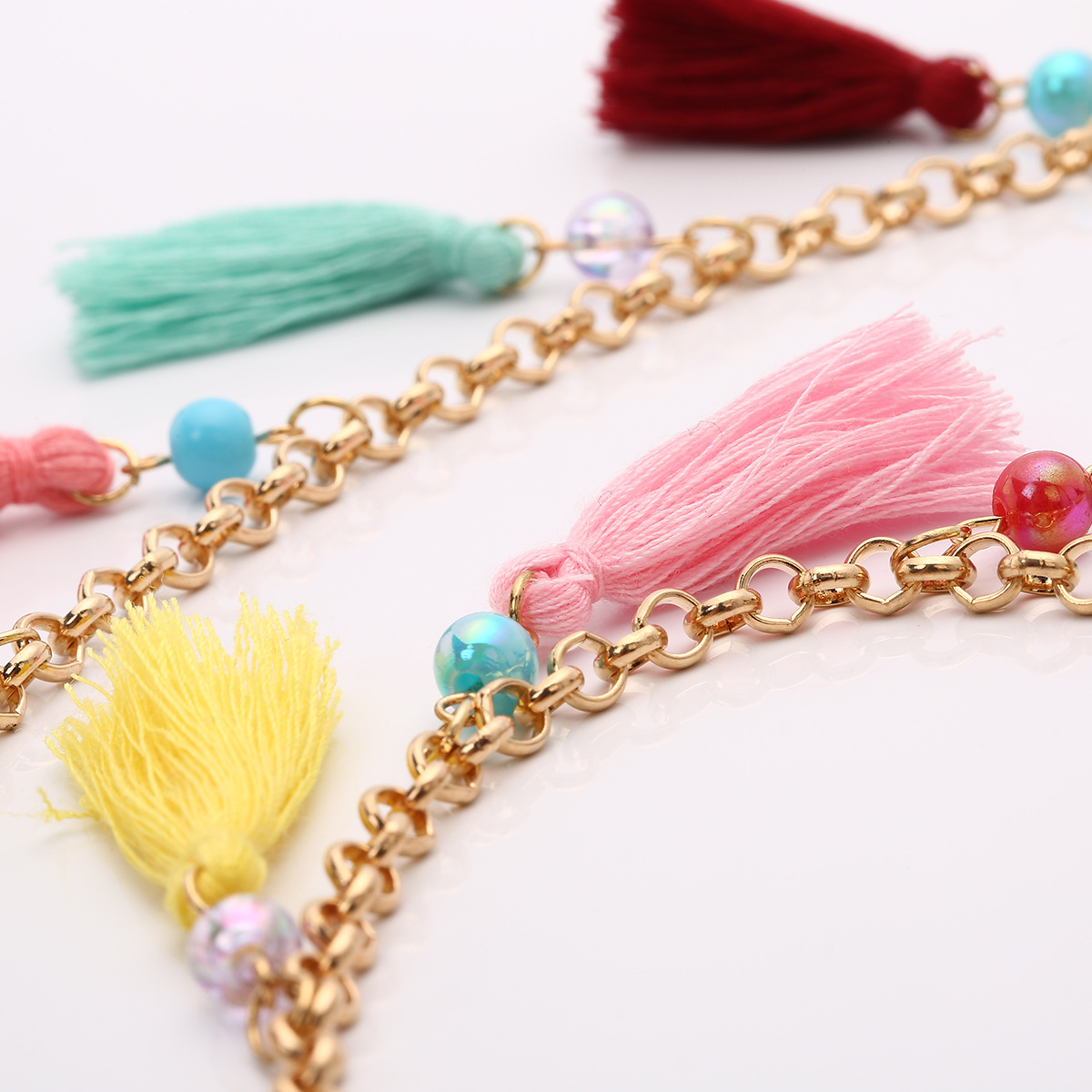 Simple alloy plating necklace (C2197 color)NHXR1494-C2197 color