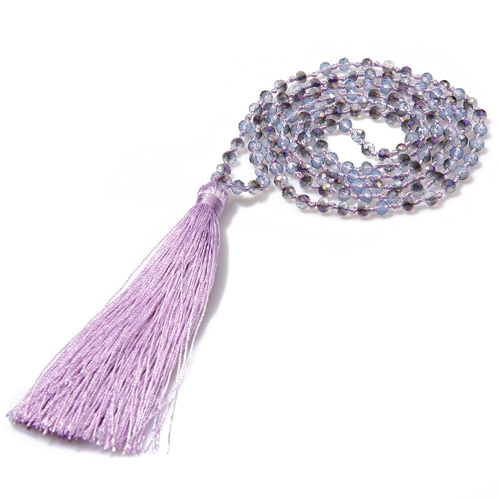 Imitated crystal&CZ Bohemia Tassel necklace  (JHBZBVN1392-A) NHGW0003-JHBZBVN1392-A