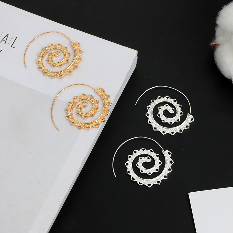 plating earring (Silver 4198)NHGY0621-Silver 4198