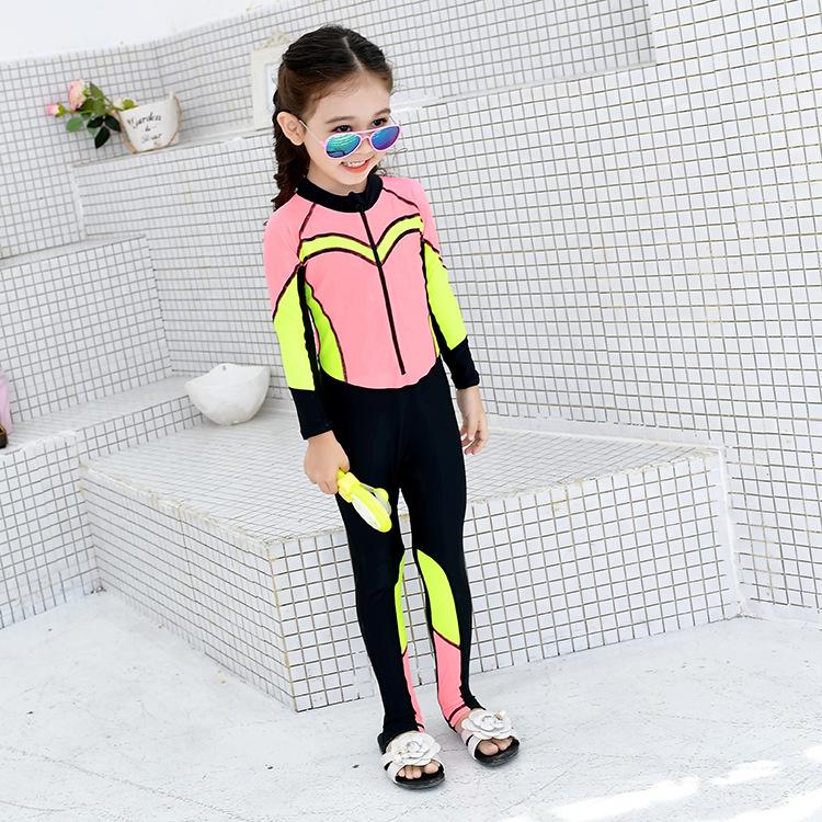 魅依尔2018新款儿童泳装原创设计温泉沙滩游泳衣女童潜水服可代销
