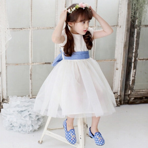 2017 girls summer dress brand new embroidered skirts children dress clothes 13855