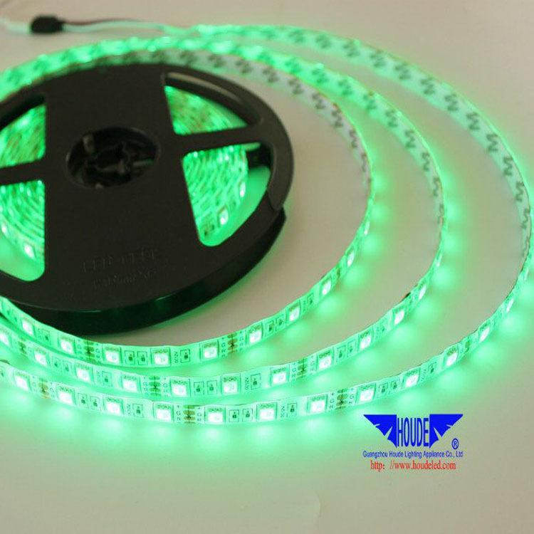 12V60灯一米5050RGB灯带七彩色滴胶防水12伏LED贴片软灯条