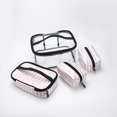 厂家直销韩版pvc旅行洗漱包透明防水化妆包便捷手提加厚收纳包