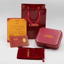 卡手环包装盒love红色高档饰品首饰手镯C螺丝刀包装五件套