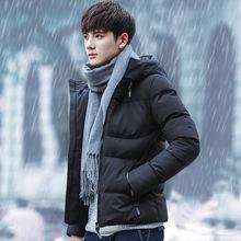 爆款2017冬季男士棉衣外套男韩版加厚羽绒棉服棉袄大码连帽衣服潮
